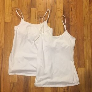 American Eagle and Express White Camis